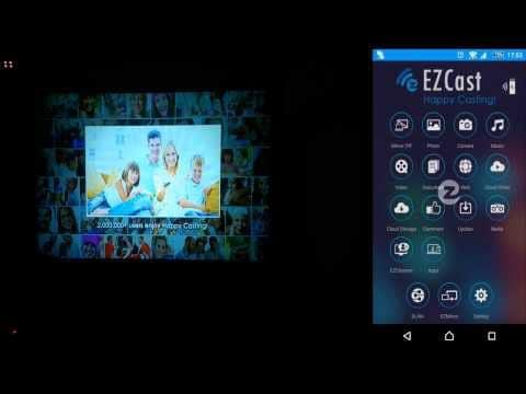 Cách kết nối điện thoại với máy chiếu bằng EZCast