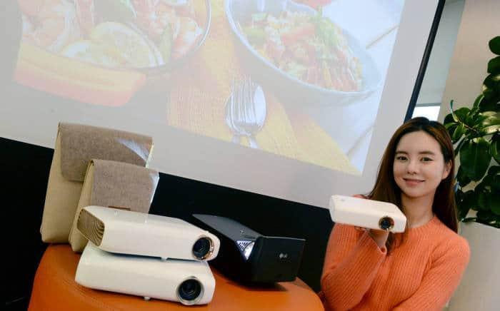 Bộ ba máy chiếu MiniBeam của LG