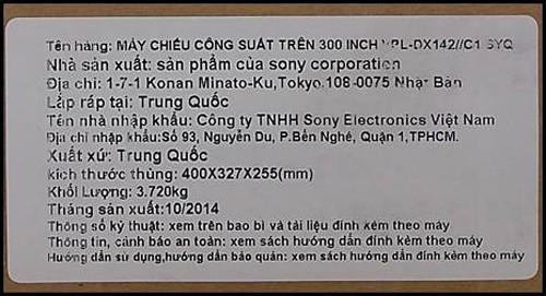Cách nhận biết máy chiếu giá rẻ Sony chính hãng