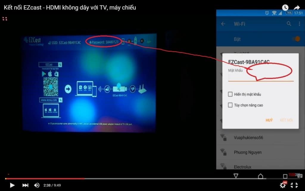 Hướng dẫn kết nối điện thoại Android với máy chiếu giá rẻ