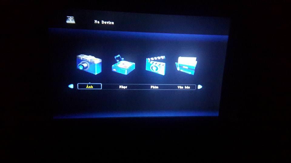 Máy chiếu mini giá rẻ Tyco T6 version 2016 với giao diện Tiếng Việt