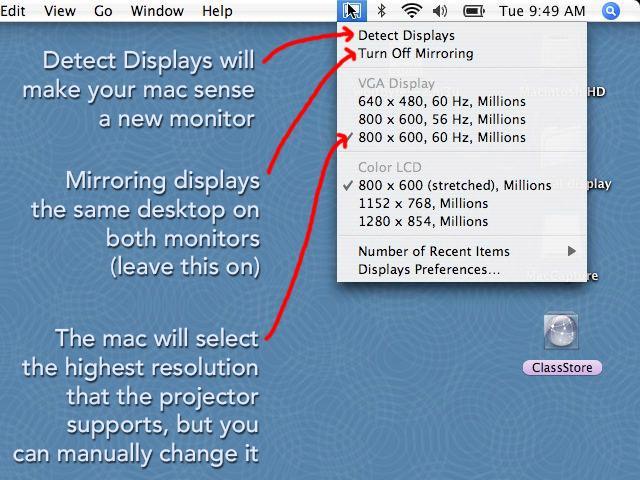 Làm thế nào để kết nối macbook với máy chiếu?
