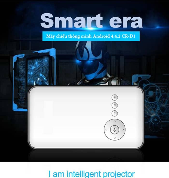 (2 trong 1) Cloudnet M6 máy chiếu giá rẻ tích hợp Android box tivi