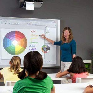 máy chiếu lớp học