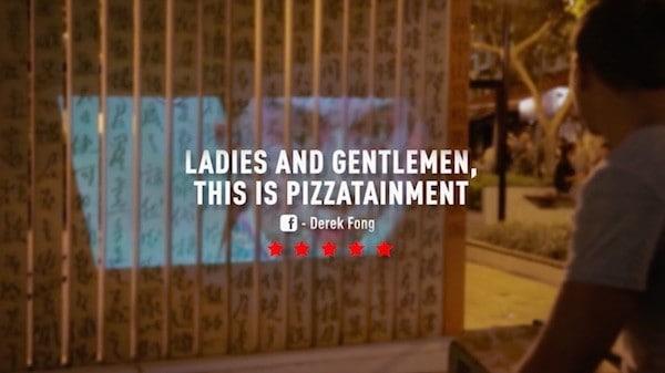 Bất ngờ với máy chiếu phim của Pizza Hut