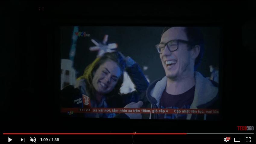 Máy chiếu giá rẻ Tyco T6 xem tivi qua cổng truyền hình cáp