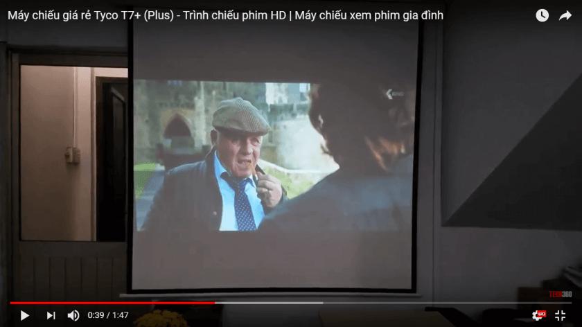 Trình chiếu phim HD trên máy chiếu giá rẻ Tyco T7+ (plus)