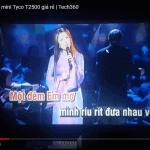 test máy chiếu Tyco T2500 hát karaoke