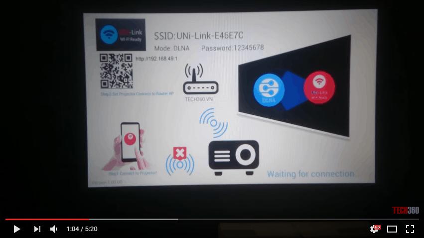UC-46 kết nối không dây với điện thoại Android không hỗ trợ Miracast