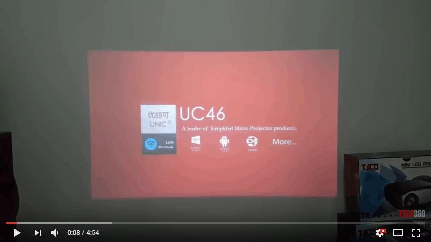 Kết nối không dây Iphone với máy chiếu UNIC UC46