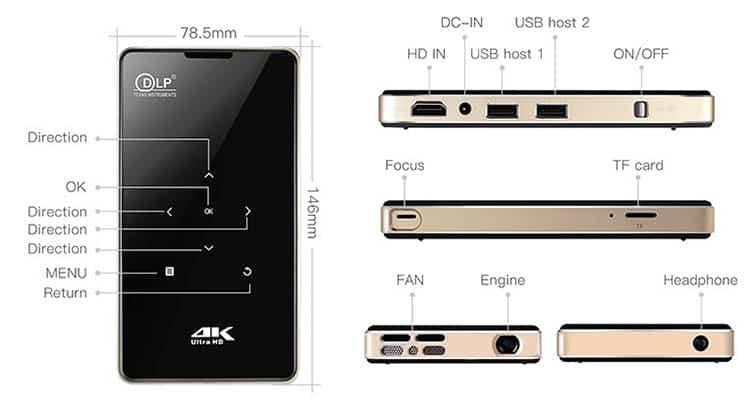 Máy chiếu mini Android Tyco M10 giá rẻ