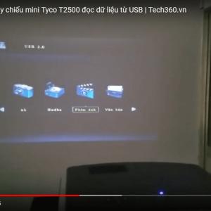 hướng dẫn đọc dữ liệu qua usb bằng máy chiếu Tyco T2500