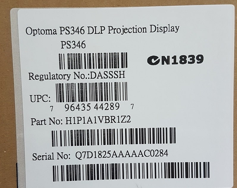 optoma ps346 xin