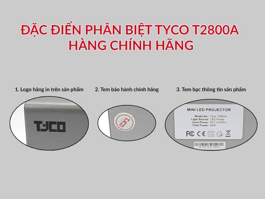 máy chiếu mini tyco T2800a chính hãng