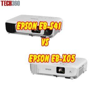 So sánh máy chiếu Epson EB-X05 vs Epson EB-S41
