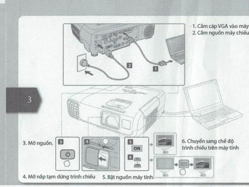 hướng dẫn sử dụng máy chiếu epson