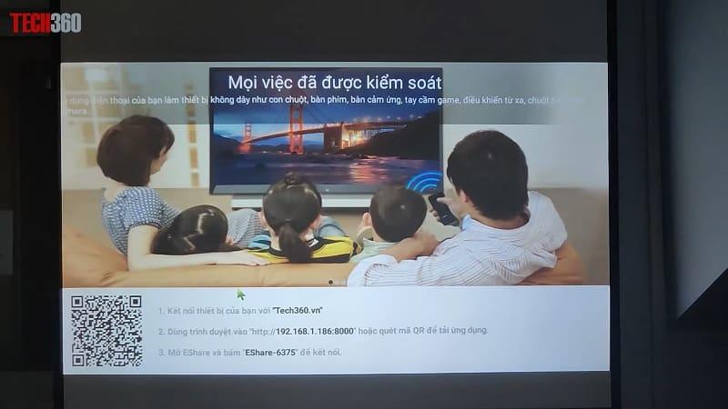 kết nối không dây máy chiếu TYCO T8HD+ Wifi
