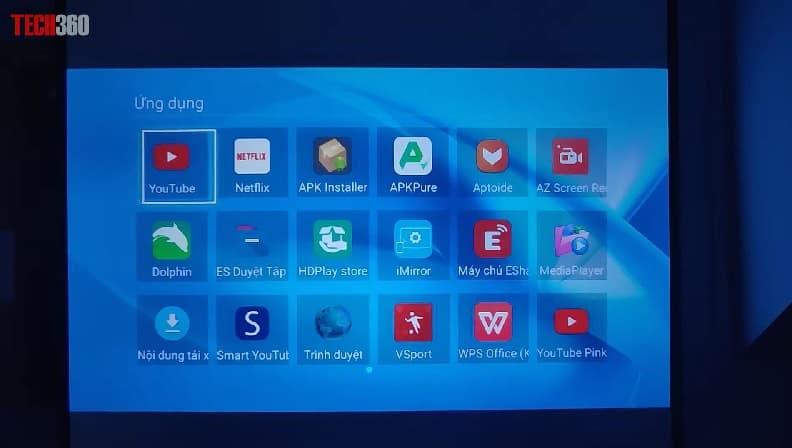 ứng dụng trên máy chiếu TYCO T8HD+ Wifi
