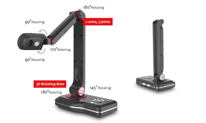 Máy chiếu vật thể Joyusing V800 điều chỉnh linh hoạt