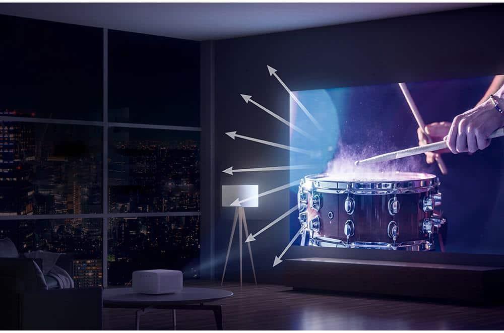 trình chiếu 3d với xiaomi mijia 2 projector